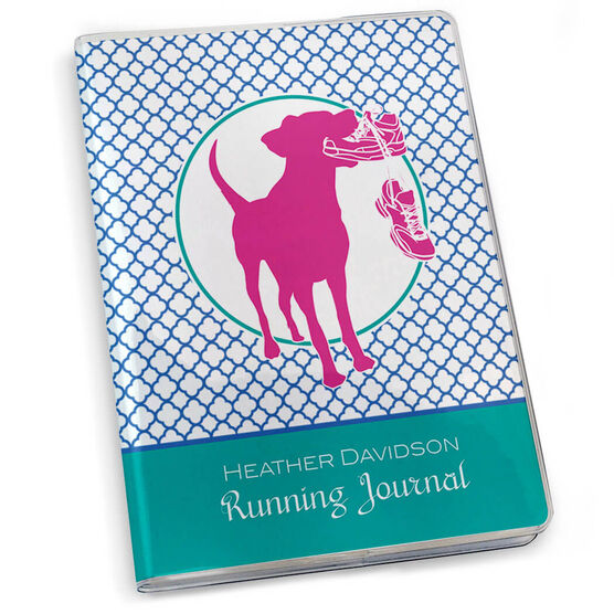 GoneForaRun Running Journal - Dog Quatrefoil Pattern