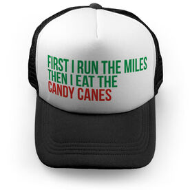 Running Trucker Hat - Then I Eat The Candy Canes