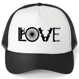 Triathlon Trucker Hat Love To Tri