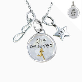 Livia Collection Sterling Silver and 14K Gold Vermeil She Believed Token 13.1 Necklace
