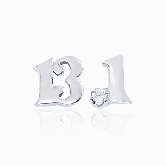 Livia Collection Sterling Silver 13.1 Stud Earrings