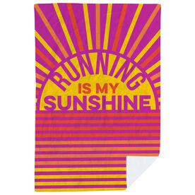Running Premium Blanket - Running Is My Sunshine