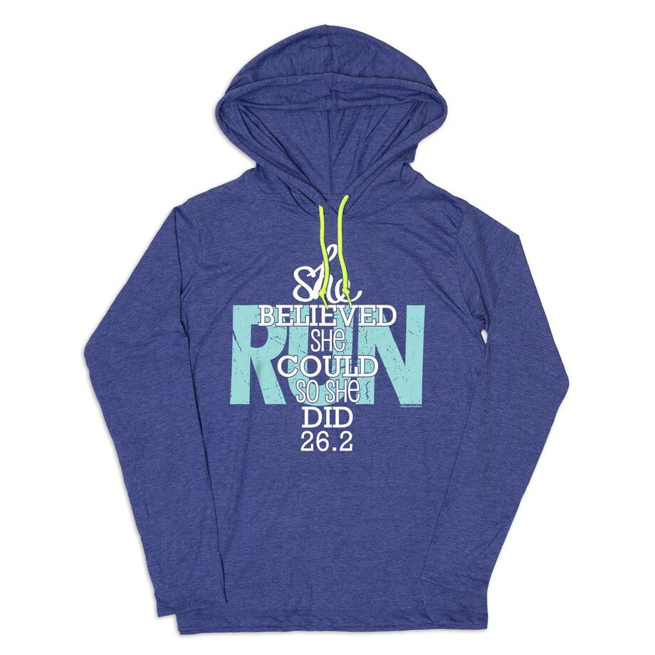 Women's Running Lightweight Hoodie - She Believed She Could So She Did 26.2