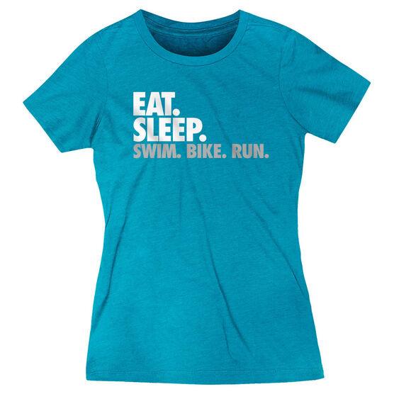 Women's Everyday Runners Tee - Eat. Sleep. Swim. Bike. Run.