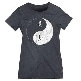 Women's Everyday Runners Tee - Runner Girl Yin Yang