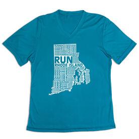 Women's Short Sleeve Tech Tee - Rhode Island State Runner