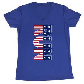 Women's Short Sleeve Tech Tee - Patriotic Run