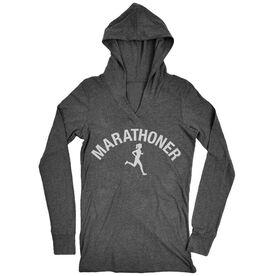 Women's Running Lightweight Performance Hoodie - Marathoner Girl