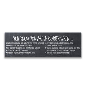 "Running 12.5"" X 4"" Removable Wall Tile - You Know You Are A Runner When"