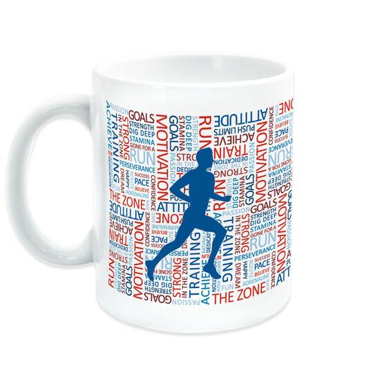 Running Coffee Mug - Inspiration Words Male