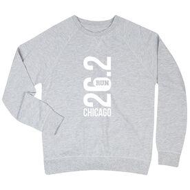Running Raglan Crew Neck Sweatshirt - Chicago 26.2 Vertical