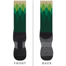 Running Printed Mid-Calf Socks - Trails
