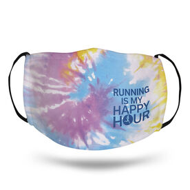 Running Face Mask - Running Is My Happy Hour