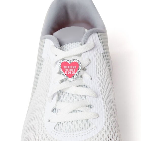 Running Shoelace Charm - She Believed She Could