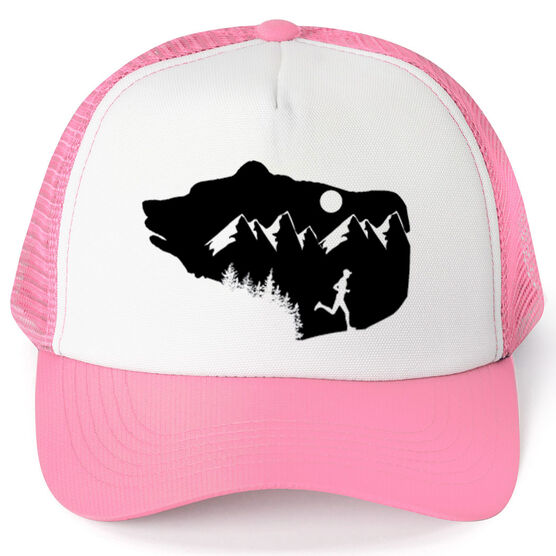 Running Trucker Hat - Bear Mountain Male Runner