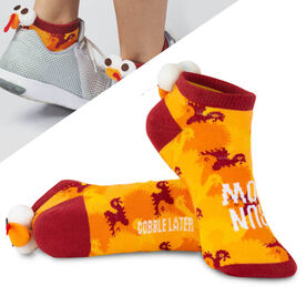 Costume Ankle Socks - Run Now Gobble Later Turkey