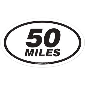 50 Miles Oval Car Magnet