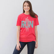 Running Short Sleeve T-Shirt - She Believed She Could So She Did 13.1