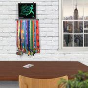 BibFOLIO+™ Race Bib and Medal Display Believe Running Girl