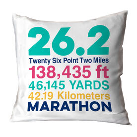 Running Decorative Pillow - 26.2 Math Miles