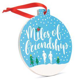 Running Round Ceramic Ornament - Miles Of Friendship