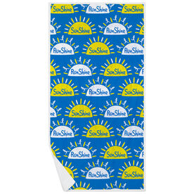 Running Premium Beach Towel - Sunshine Runshine