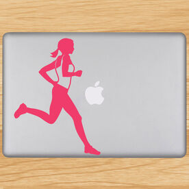Running Girl Removable GoneForaRunGraphix Laptop Decal