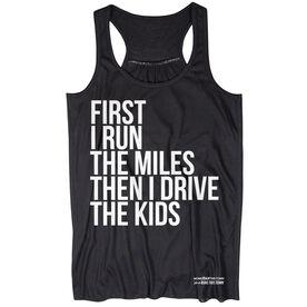 Flowy Racerback Tank Top - Then I Drive The Kids MRTT