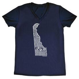 Women's Running Short Sleeve Tech Tee Delaware State Runner