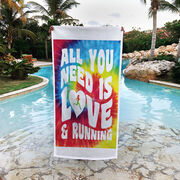 Running Premium Beach Towel - All You Need Is Love
