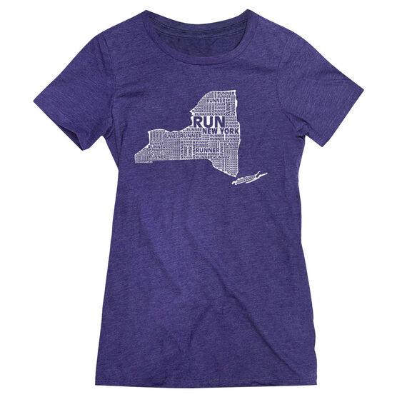 Women's Everyday Runners Tee New York State Runner