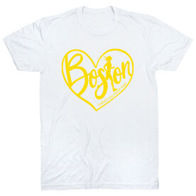 Running Short Sleeve T-Shirt - Love The Run Boston 26.2