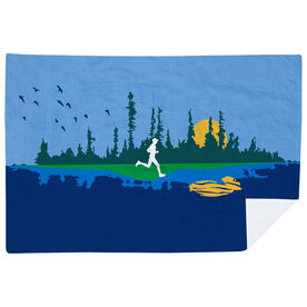 Running Premium Blanket - Runner Reflection