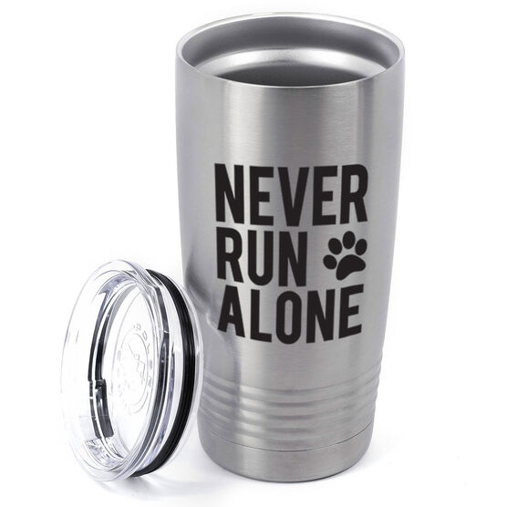Running 20oz. Double Insulated Tumbler - Never Run Alone (Bold)