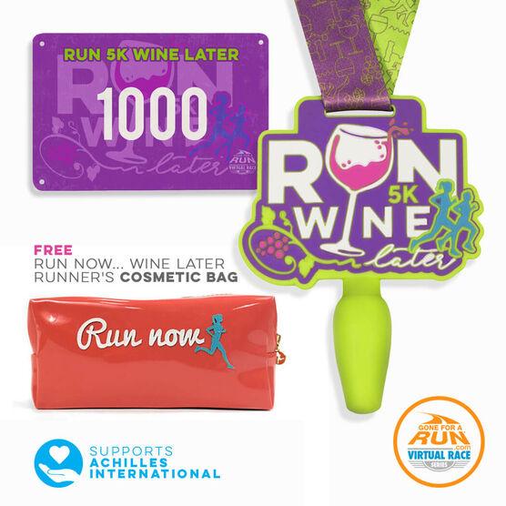 Virtual Race - Run 5K Wine Later Virtual 5K