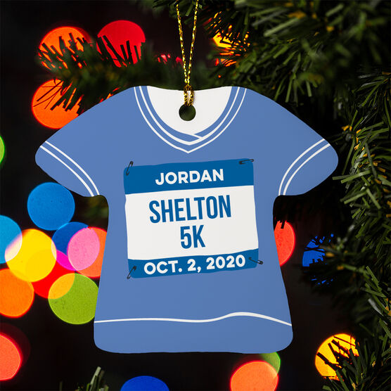 Running Ornament - Personalized My First 5K Shirt