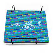 BibFOLIO® Race Bib Album - Swim Bike Run Repeat Girls