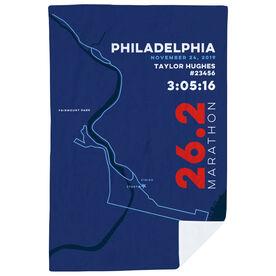 Running Premium Blanket - Philadelphia 26.2 Route