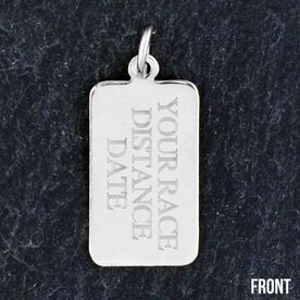 Sterling Silver RunTAG Personalized Rectangular Tag Charm