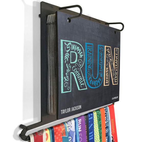 BibFOLIO+™ Race Bib and Medal Display - Inspire to RUN Chalkboard