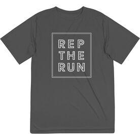 Men's Running Short Sleeve Performance Tee - Rep The Run
