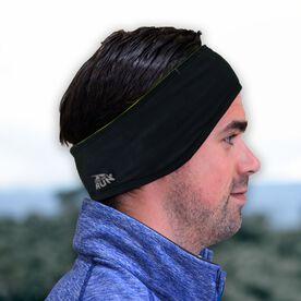 Running Reversible Performance Headband - Yellow/Black