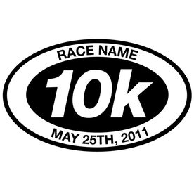 Personalized 10k Oval Running Vinyl Decal