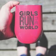 Running Stainless Steel Wine Tumbler - Girls Run The World