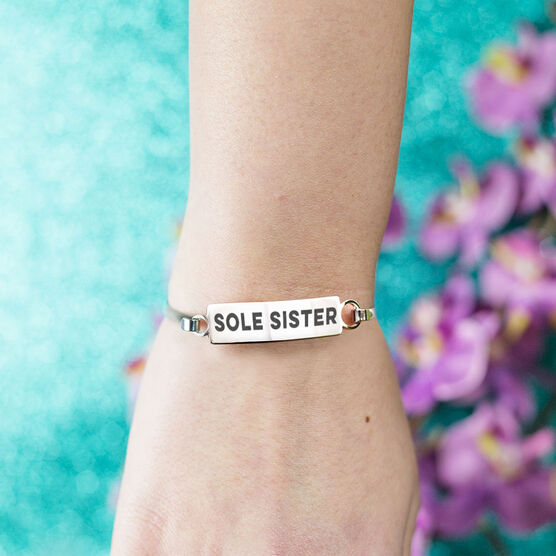 Running Engraved Clasp Bracelet Sole Sister