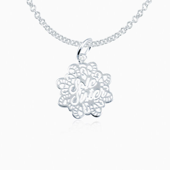 Livia Collection Sterling Silver Filigree Sole Sister Necklace
