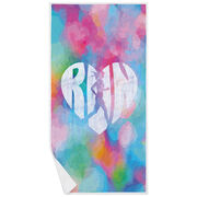 Running Premium Beach Towel - Love The Run Watercolor