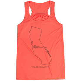 Flowy Racerback Tank Top - She Runs This Town California Runner