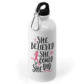 Running 20 oz. Stainless Steel Water Bottle - She Believed She Could So She Did