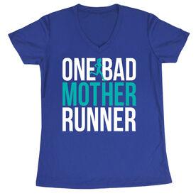 Women's Short Sleeve Tech Tee - One Bad Mother Runner (Bold)